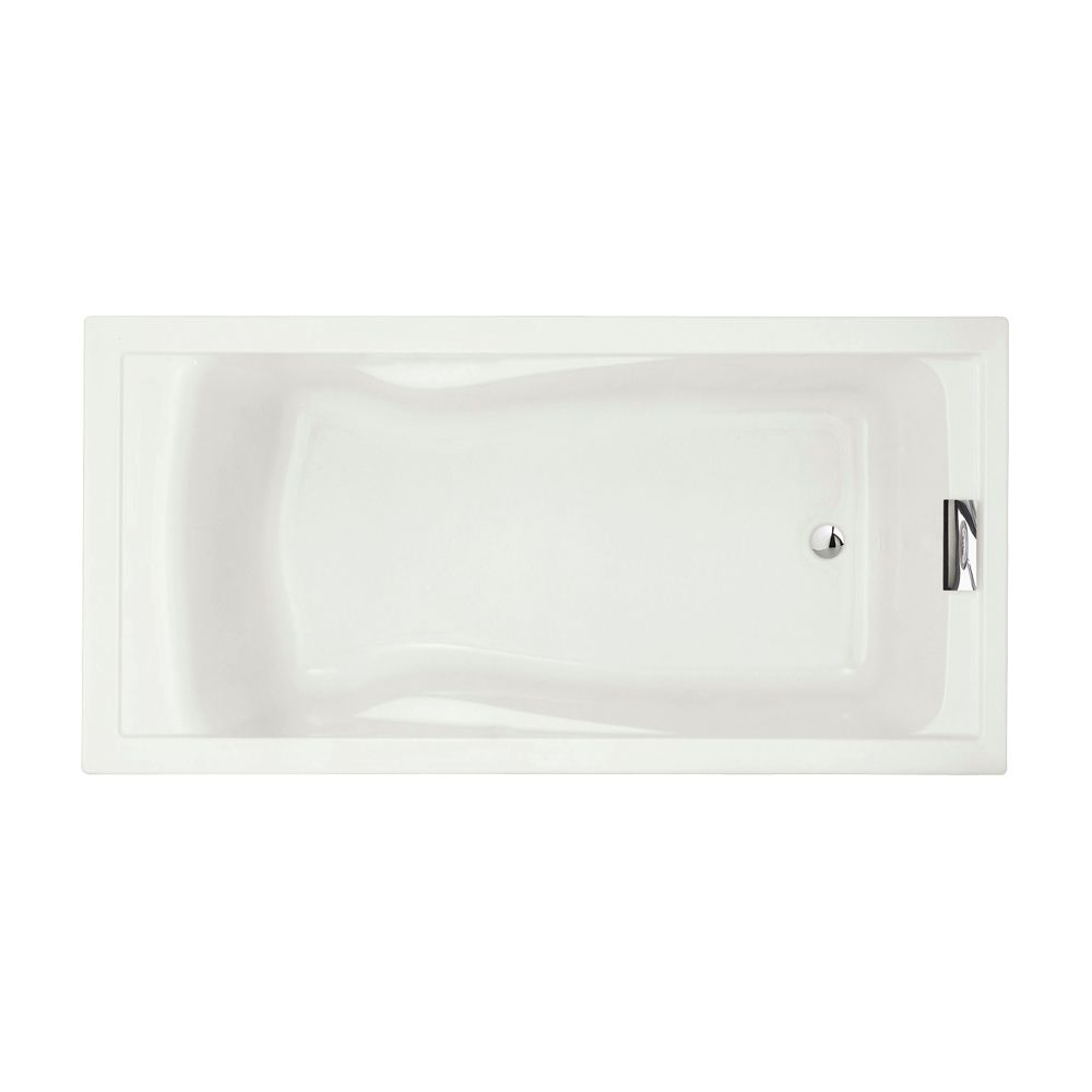 Evolution 6 Feet Acrylic Bathtub in White