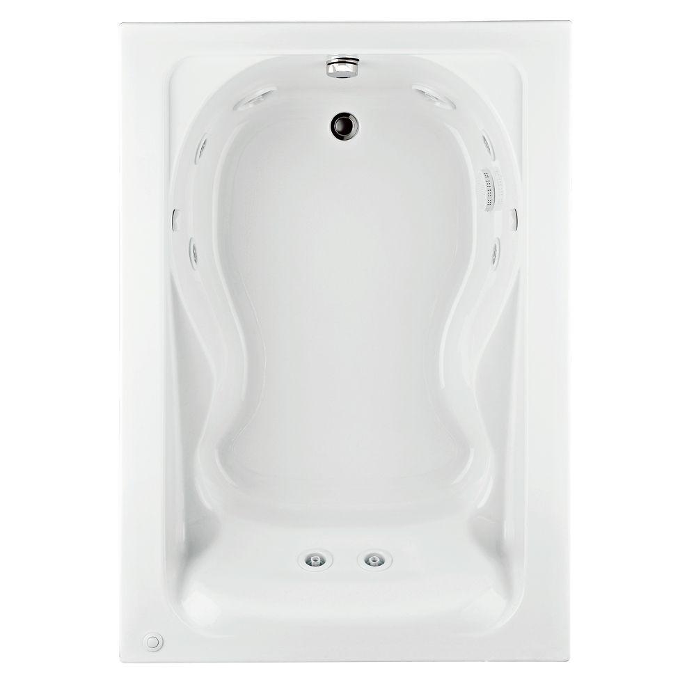 American Standard Cadet 5 Feet Whirlpool Bathtub With Reversible Drain In Whi