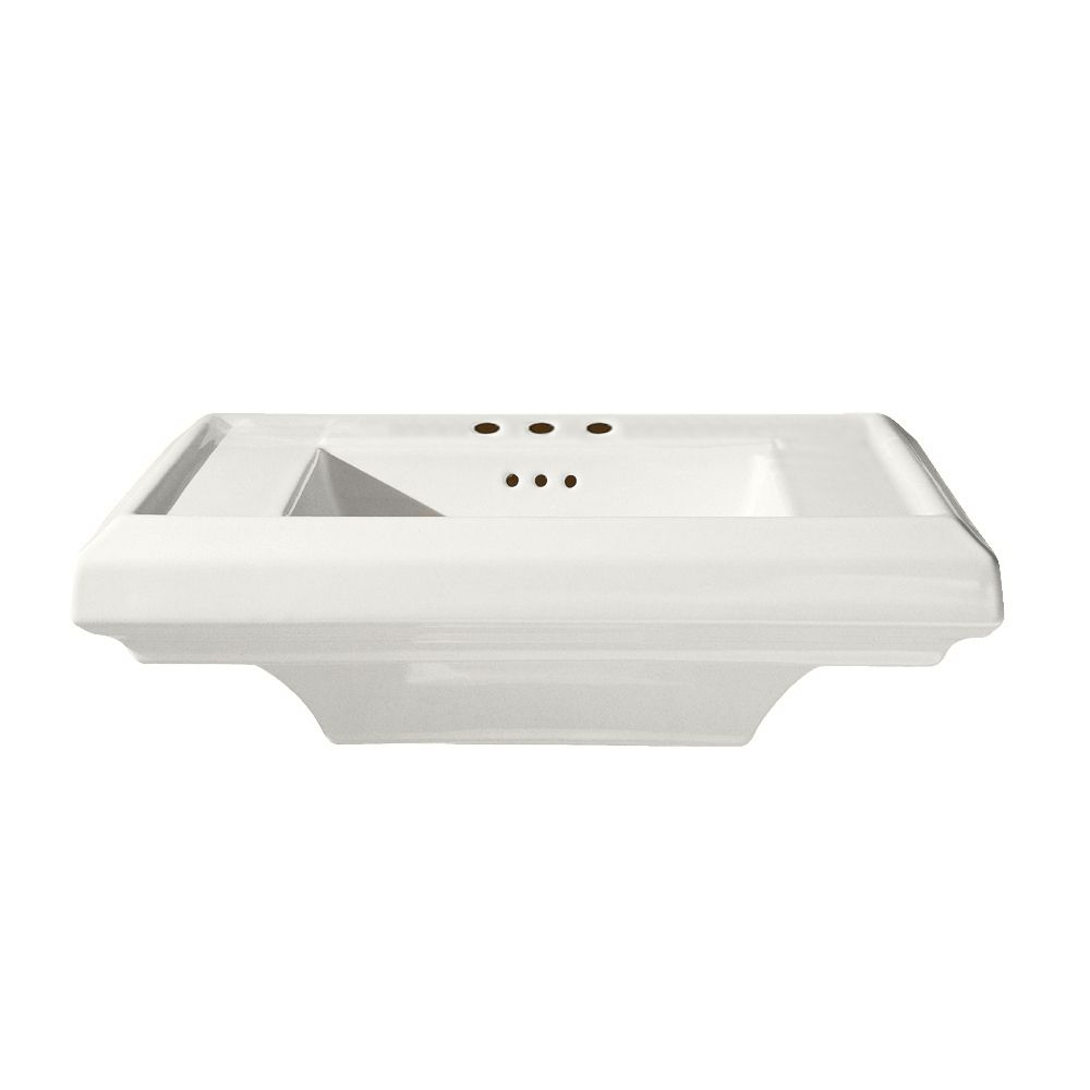 Town Square 24-inch Bathroom Pedestal Sink Basin in White