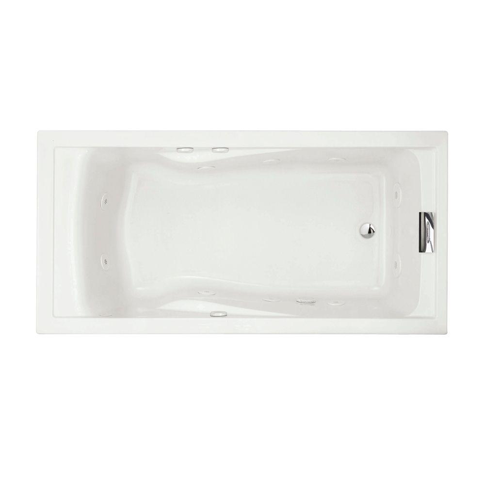 Evolution 6 Feet Whirlpool Bathtub with EverClean� in White