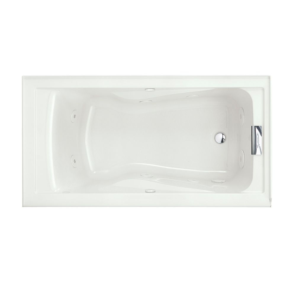 Evolution 5 Feet Whirlpool Bathtub with EverClean� with Reversible Drain in White