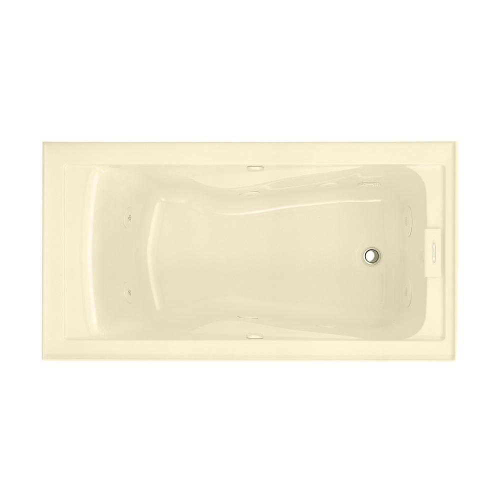EverClean� 5 Feet Whirlpool Bathtub with Right-Hand Drain in Bone