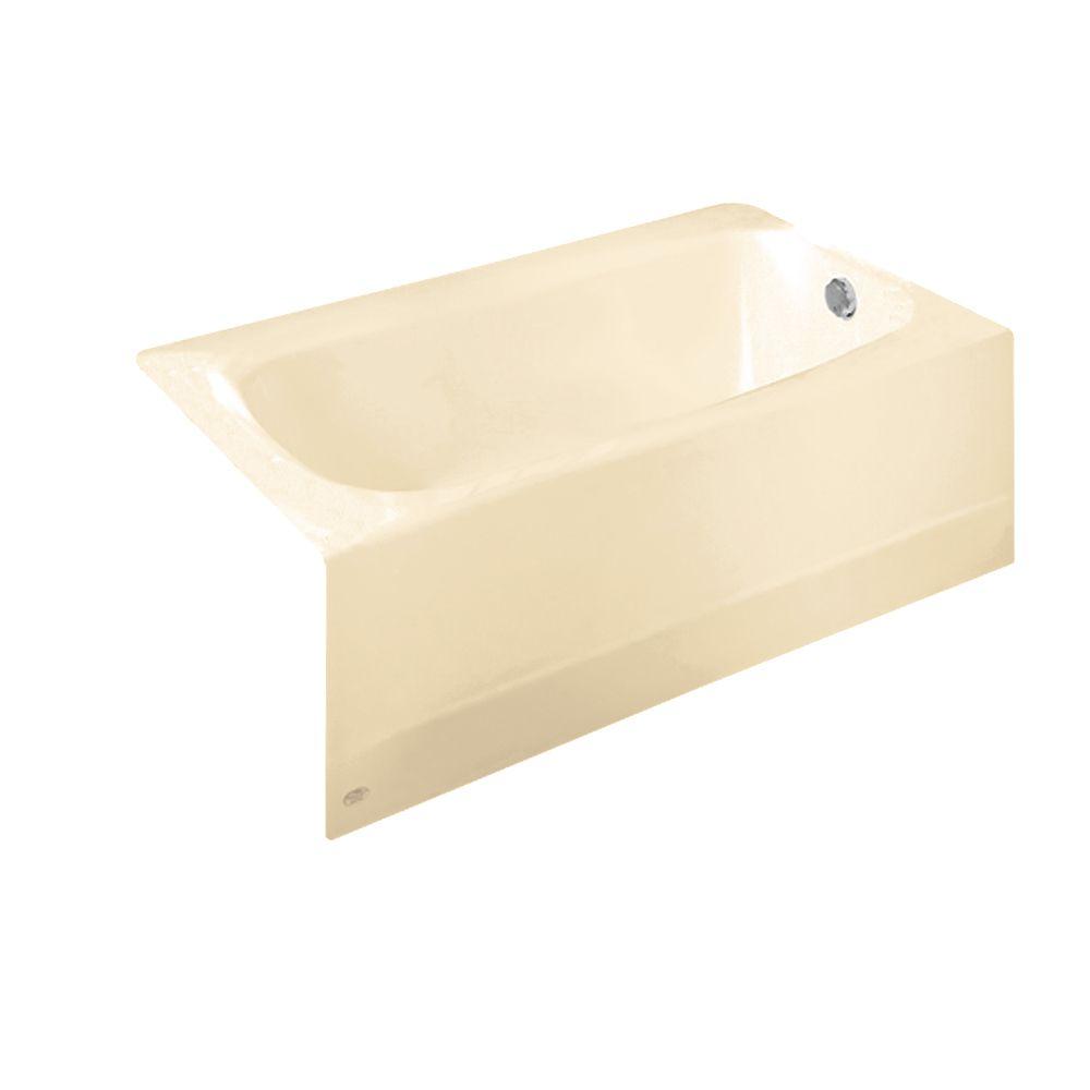 Cambridge 5 Feet Americast Bathtub with Right-Hand Drain in Bone