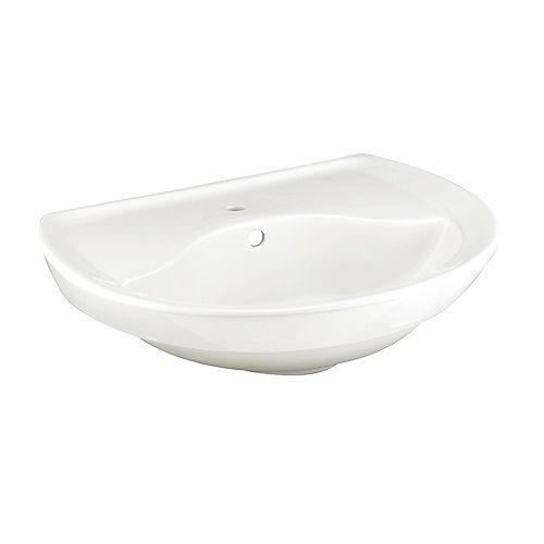 American Standard Ravenna Semi-Circle 6-inch Pedestal Sink Basin in White
