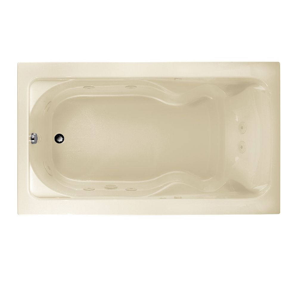 Cadet 6 Feet EverClean<sup>®</sup> Whirlpool Bathtub with Reversible Drain in Linen