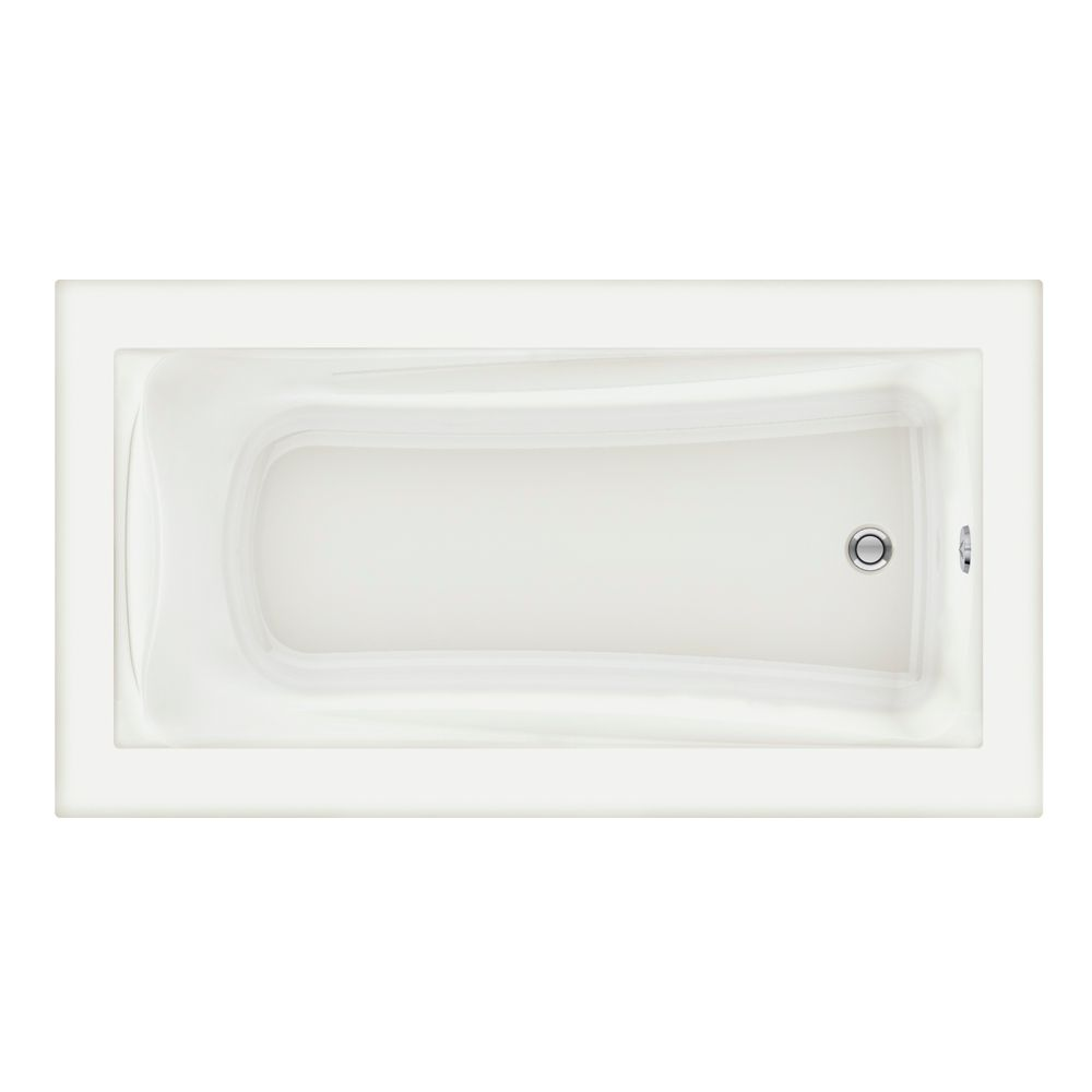 Green Tea 5 1/2 Feet Acrylic Bathtub with Reversible Drain in White
