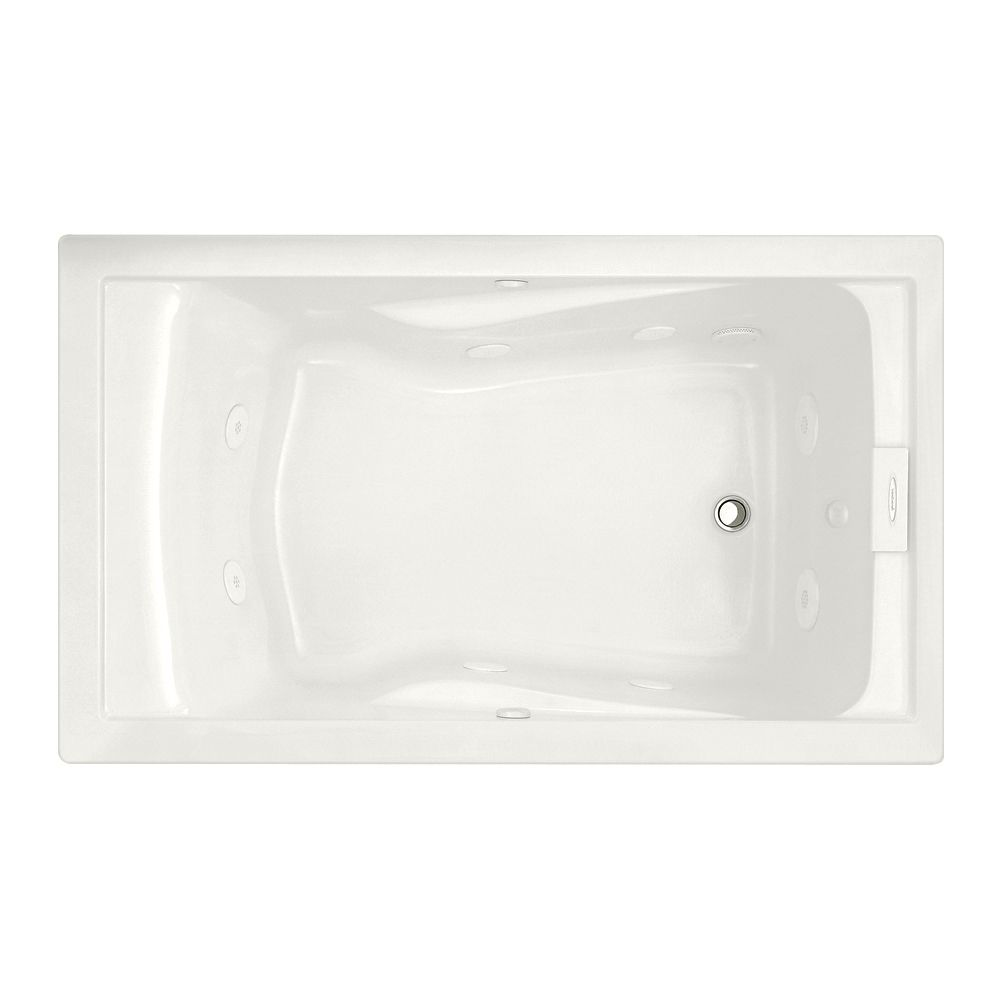 EverClean� 5 Feet Whirlpool Bathtub in White
