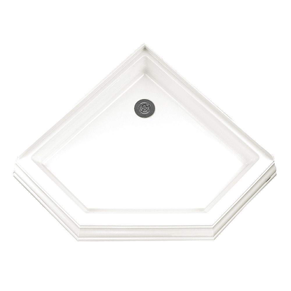 Town Square 38 Inch x 38 Inch Neo Angle Shower Base in White