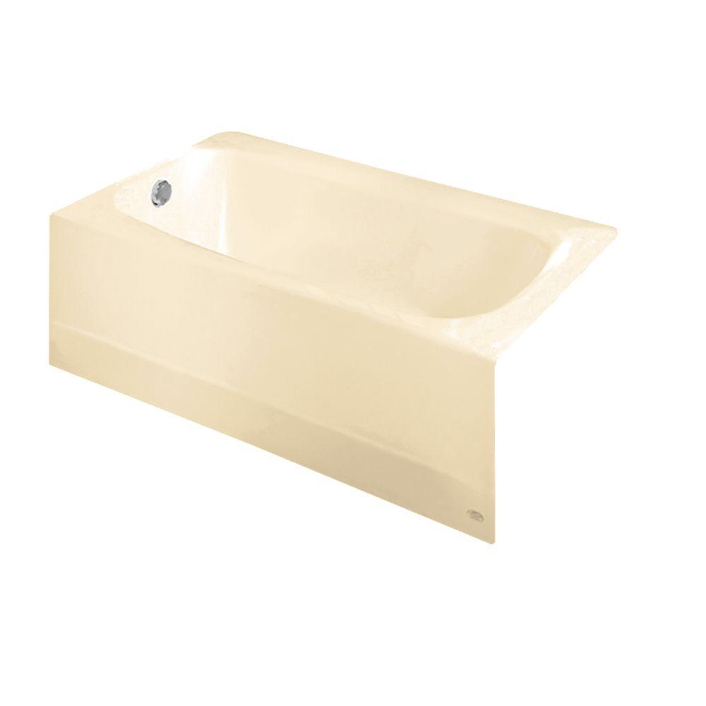 Cambridge 5 Feet Americast Bathtub with Left-Hand Drain in Bone