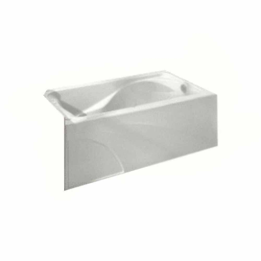 Cadet 5 Feet Bathtub with Right-Hand Drain and Integral Apron in White