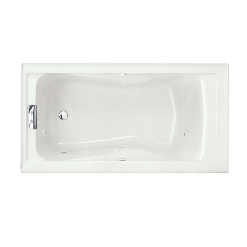 Evolution 5 Feet Whirlpool with EverClean� with Left-Hand Drain in White