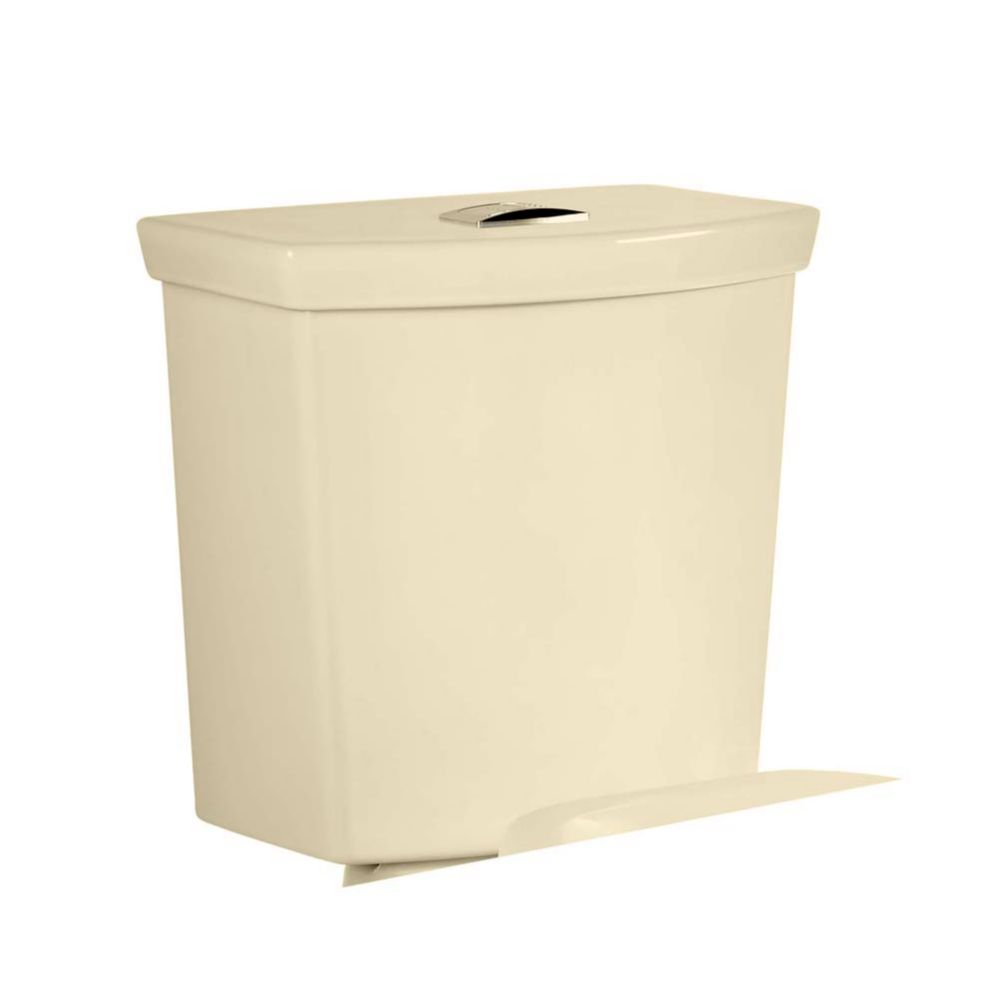 H2Option 1.6 GPF Dual Flush Toilet Tank Only in Bone