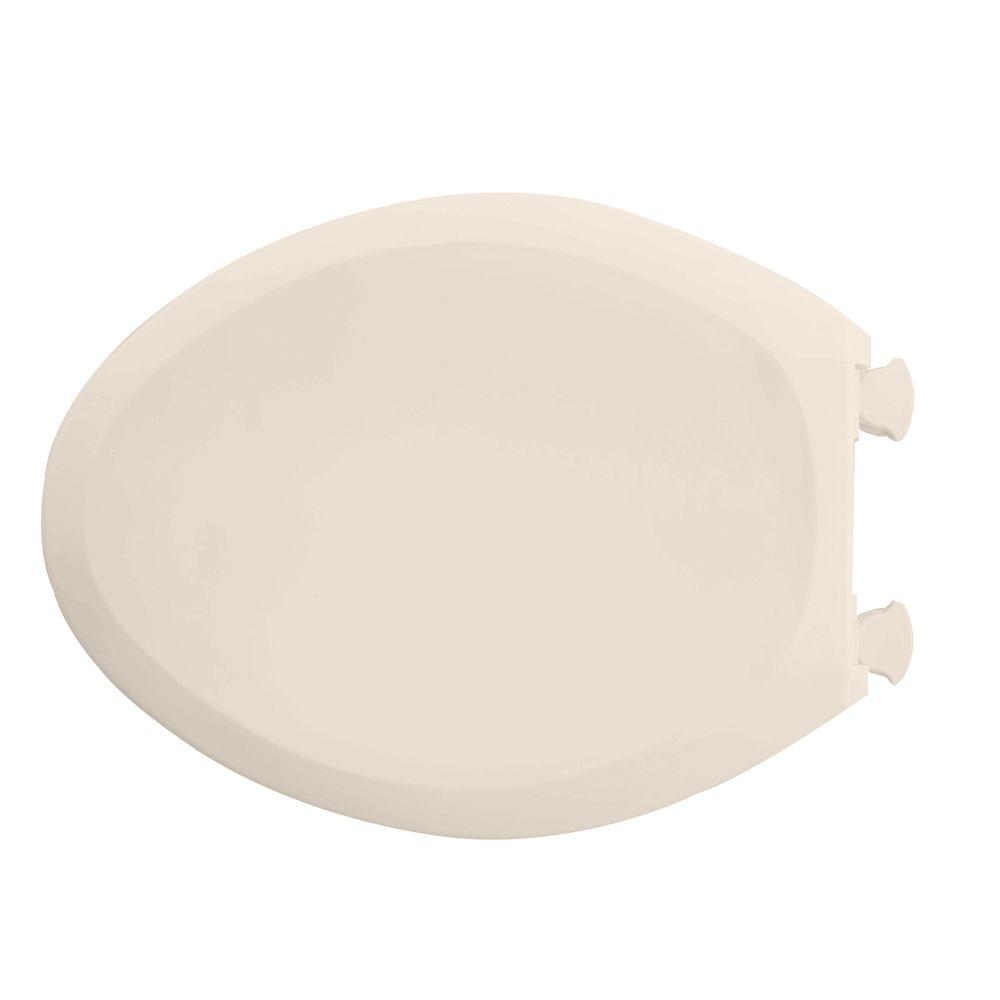 Siège de toilette allongé à fermeture lente Champion<sup>®</sup> avec couvercle de couleur lin