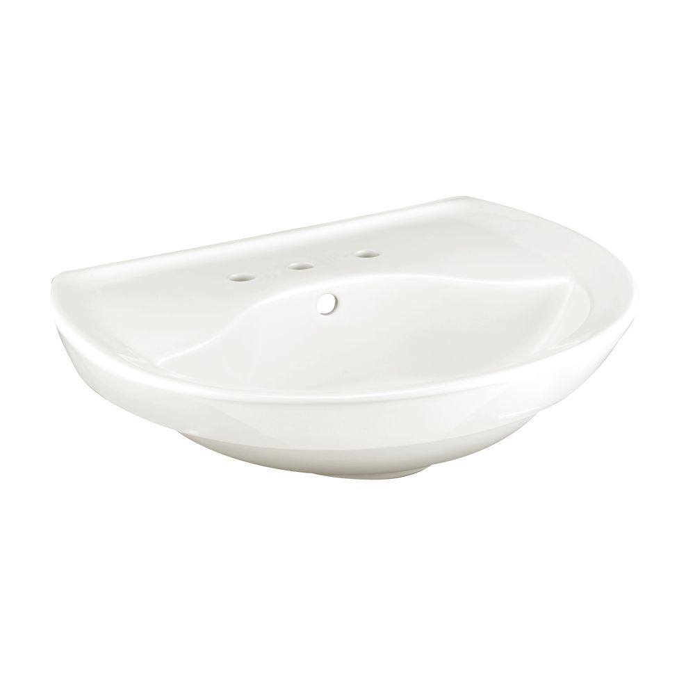 Ravenna 6-inch Pedestal Sink Basin in White
