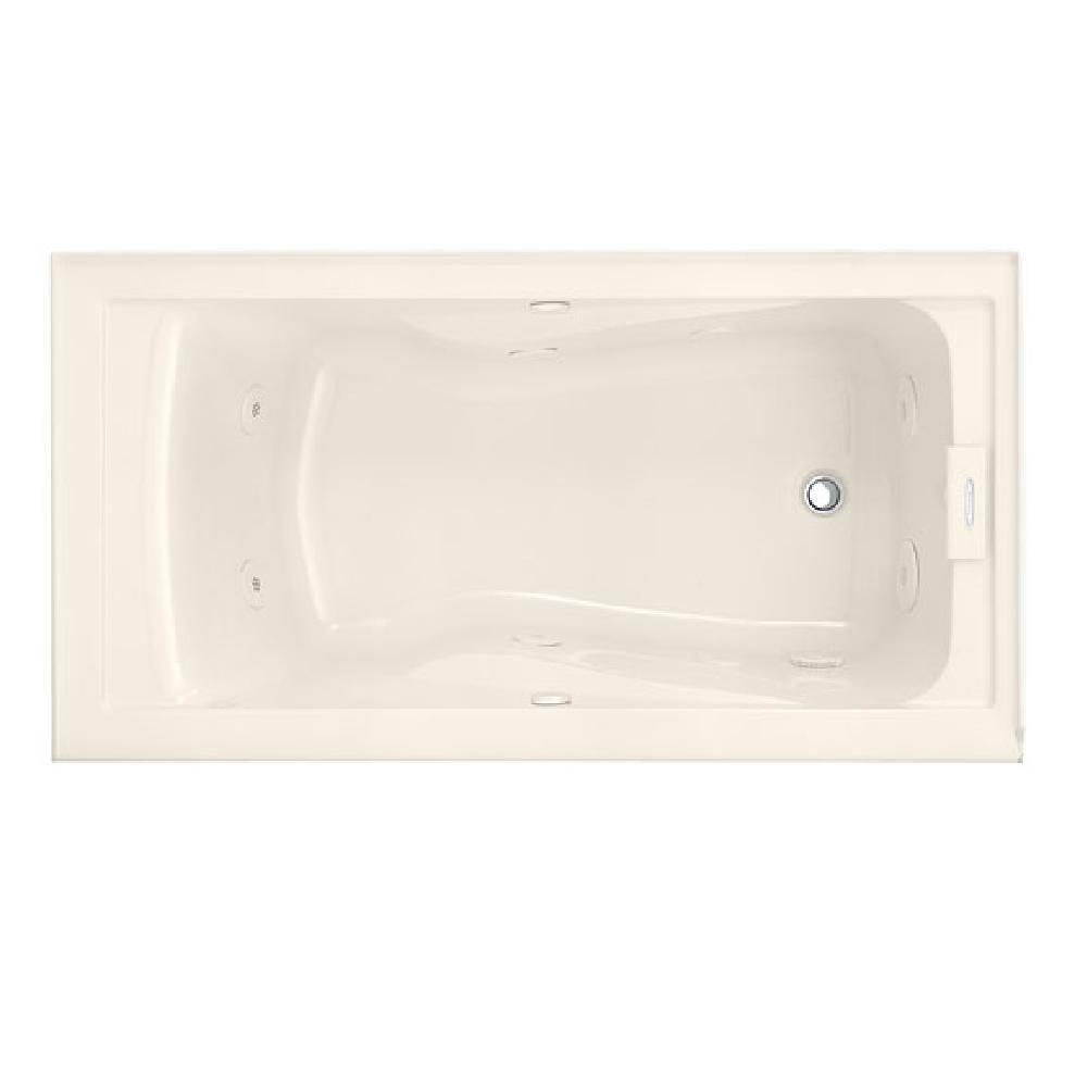 Lifetime 5 Feet EverClean<sup>®</sup> Whirlpool Bathtub with Integral Apron and Right Drain in Li...
