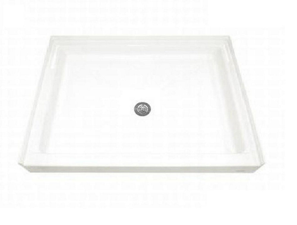 48-1/8 Inch x 34-1/4 Inch Single Threshold Shower Base in White