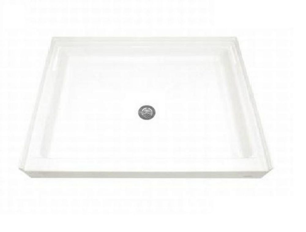 American Standard 48-1/8 Inch x 34-1/4 Inch Single Threshold Shower Base in White