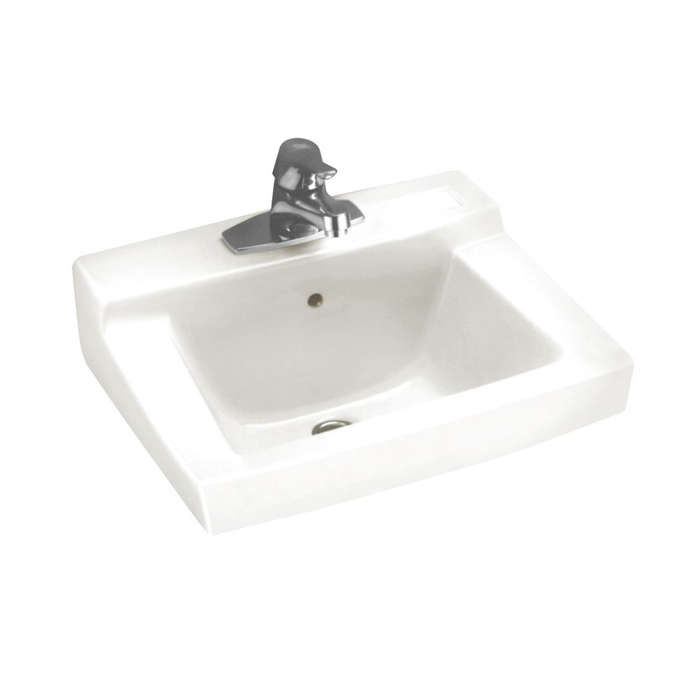 Declyn Wall-Mount Bathroom Sink in White