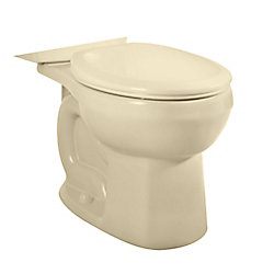 American Standard H2Option Siphonic Dual-Flush Round Bowl Toilet Bowl Only in Bone