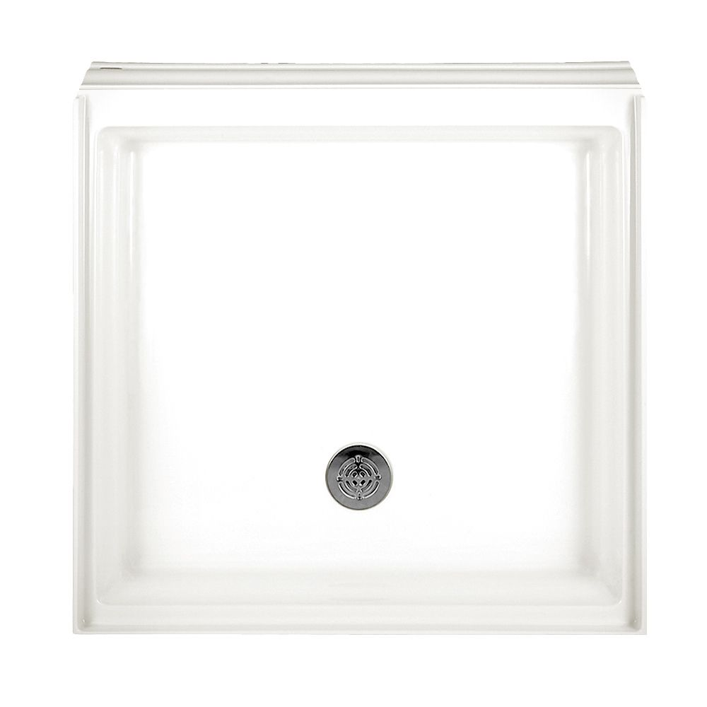 Town Square 36 Inch x 36 Inch Single Threshold Shower Base in White