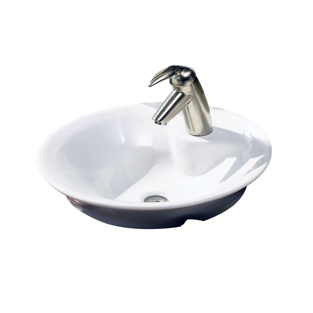 Morning Vessel Sink in White
