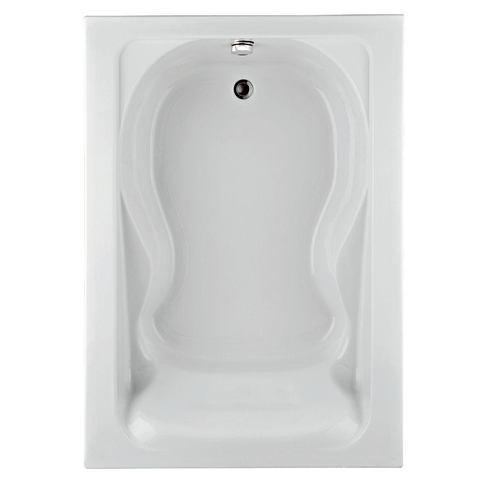 Cadet 6 Feet Acrylic Bathtub with Reversible Drain in White