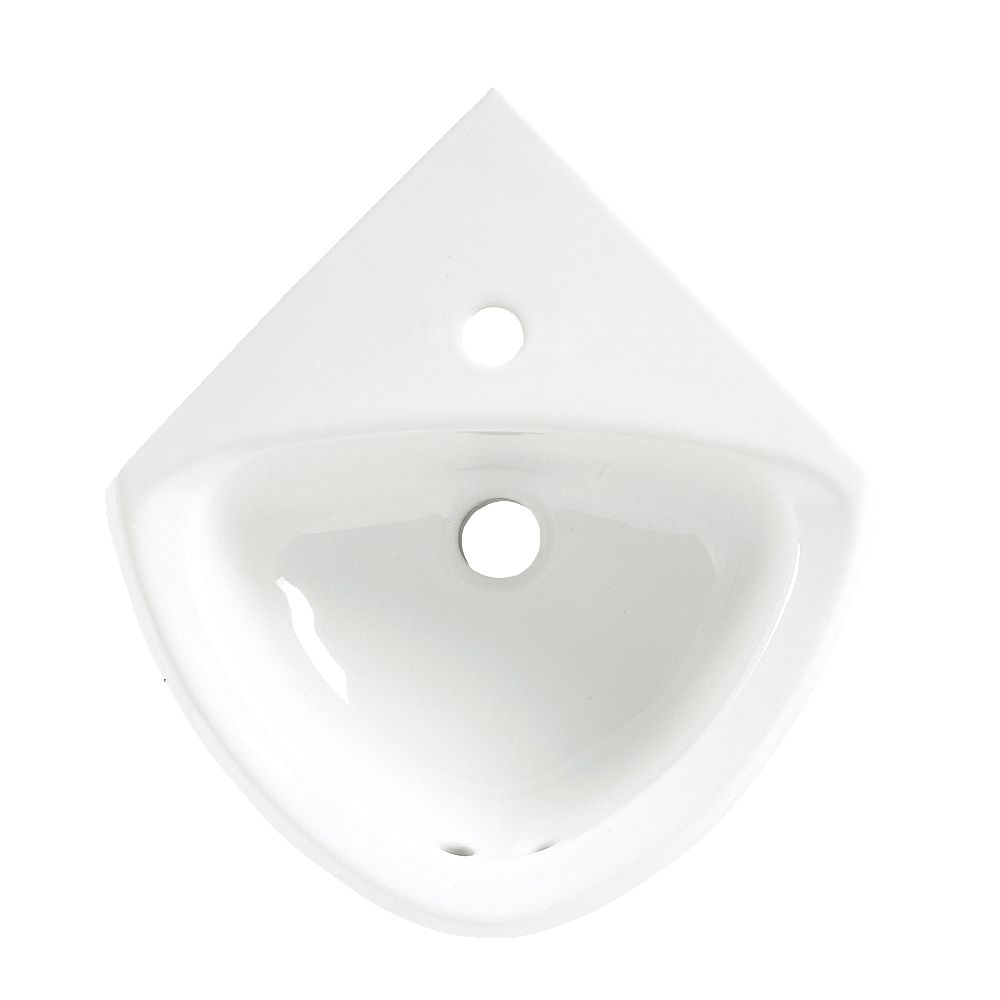 Corner Minette Wall-Mount Bathroom Sink in White