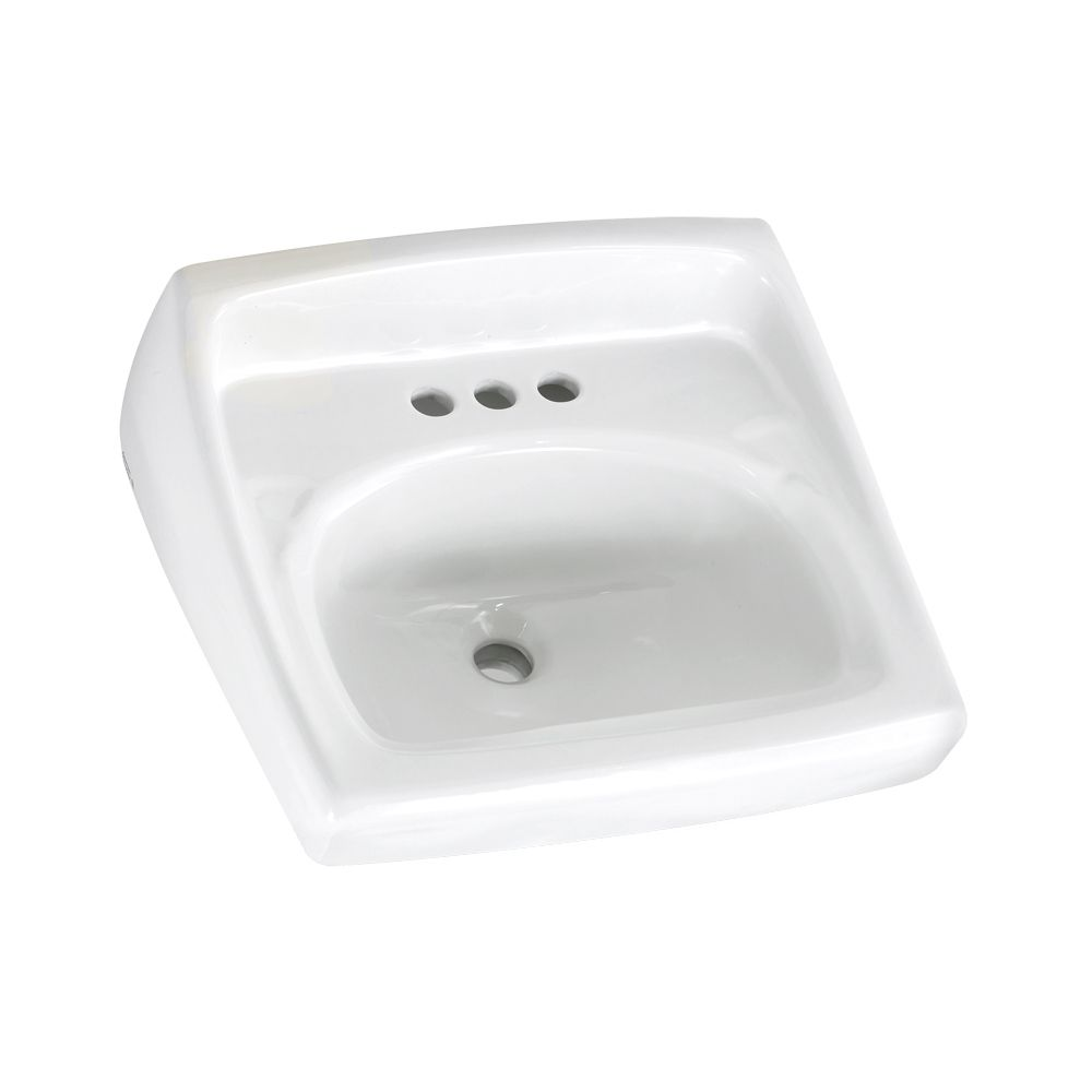 Lucerne Wall-Mount Bathroom Sink in White