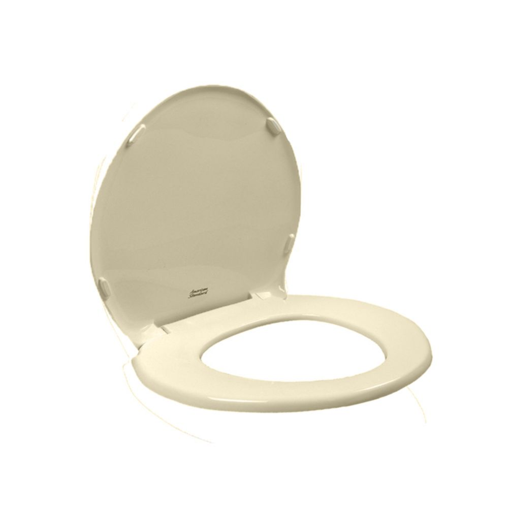 Champion Slow Close Round Closed Front Toilet Seat in Bone