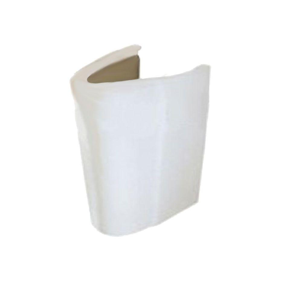 Patte de lavabo sur demi-piédestal Ravenna� blanche