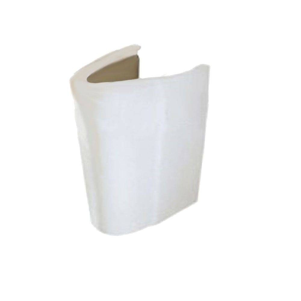 Ravenna Semi-Pedestal Sink Leg in White