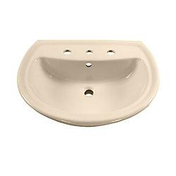 American Standard Cadet 6-inch Bathroom Pedestal Sink Basin in Bone