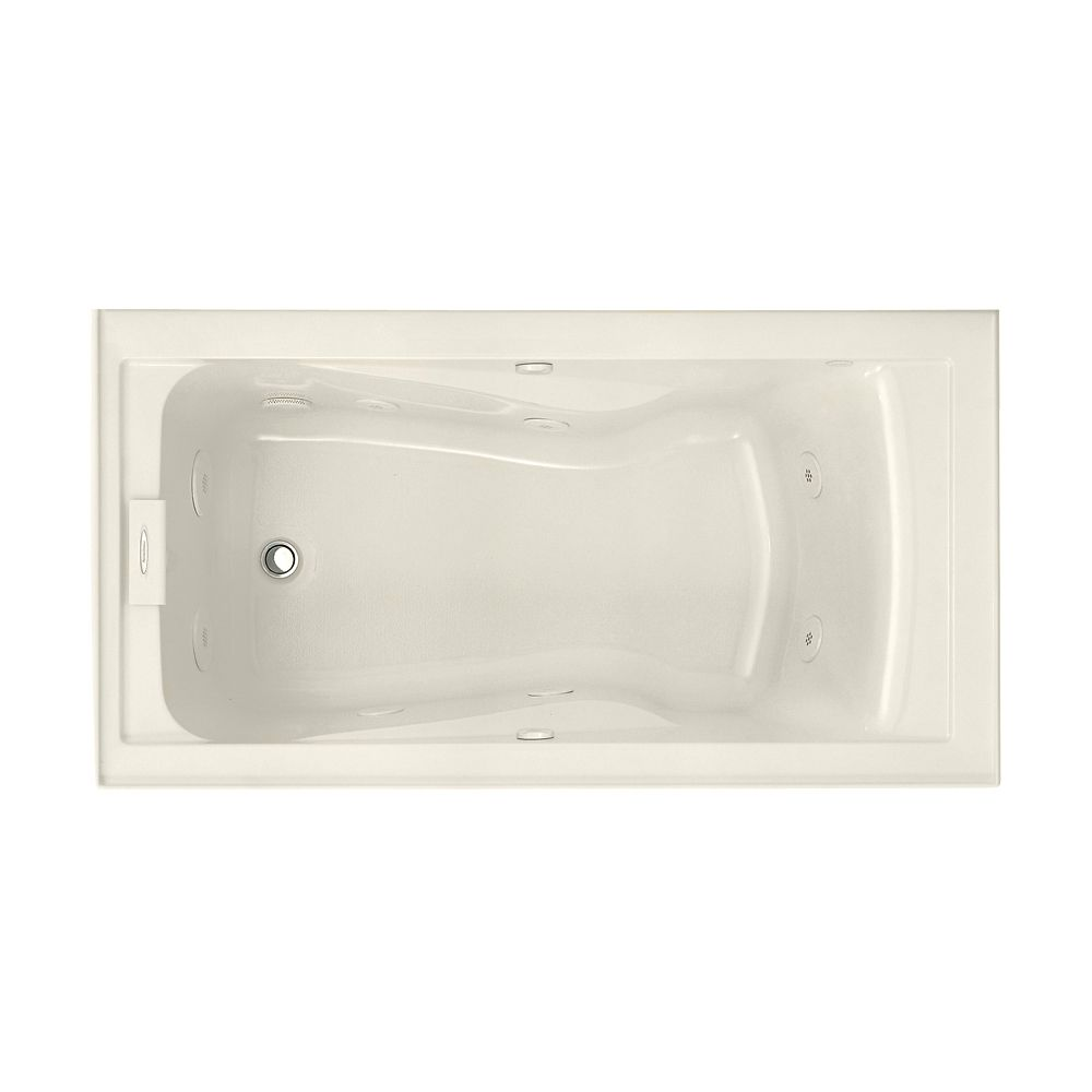 Lifetime 5 Feet EverClean<sup>®</sup> Whirlpool Bathtub with Integral Apron and Left Drain in Lin...