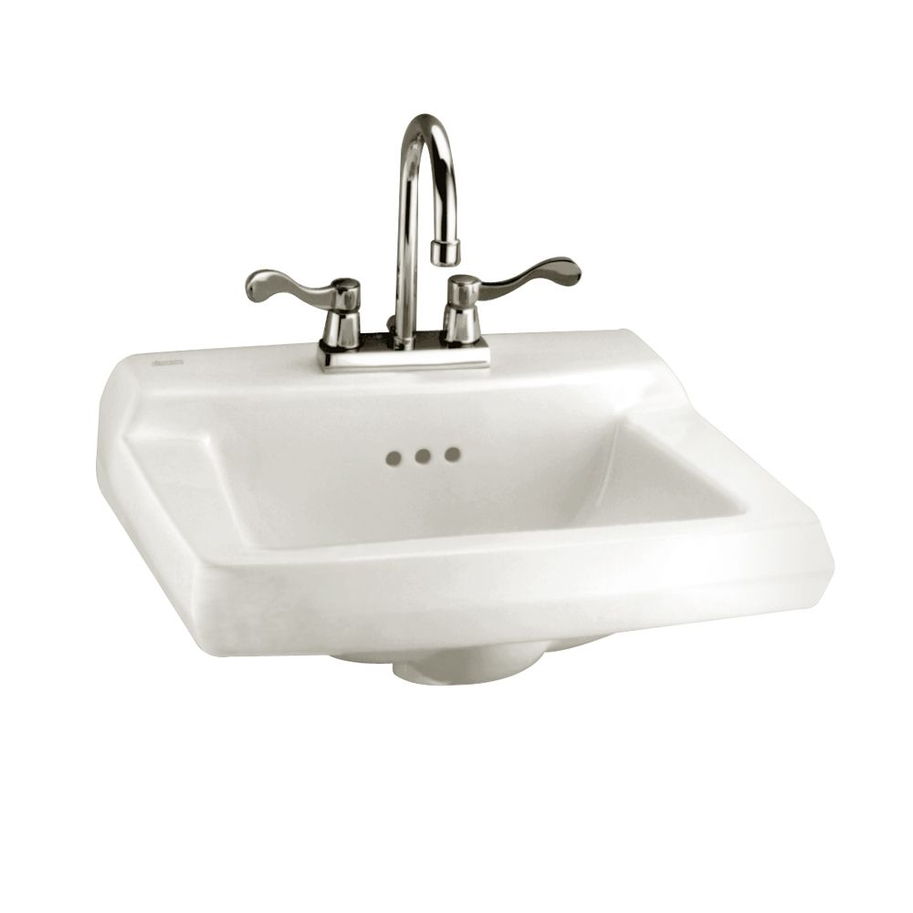 Comrade Wall-Mount Bathroom Sink for Wall Hanger in White