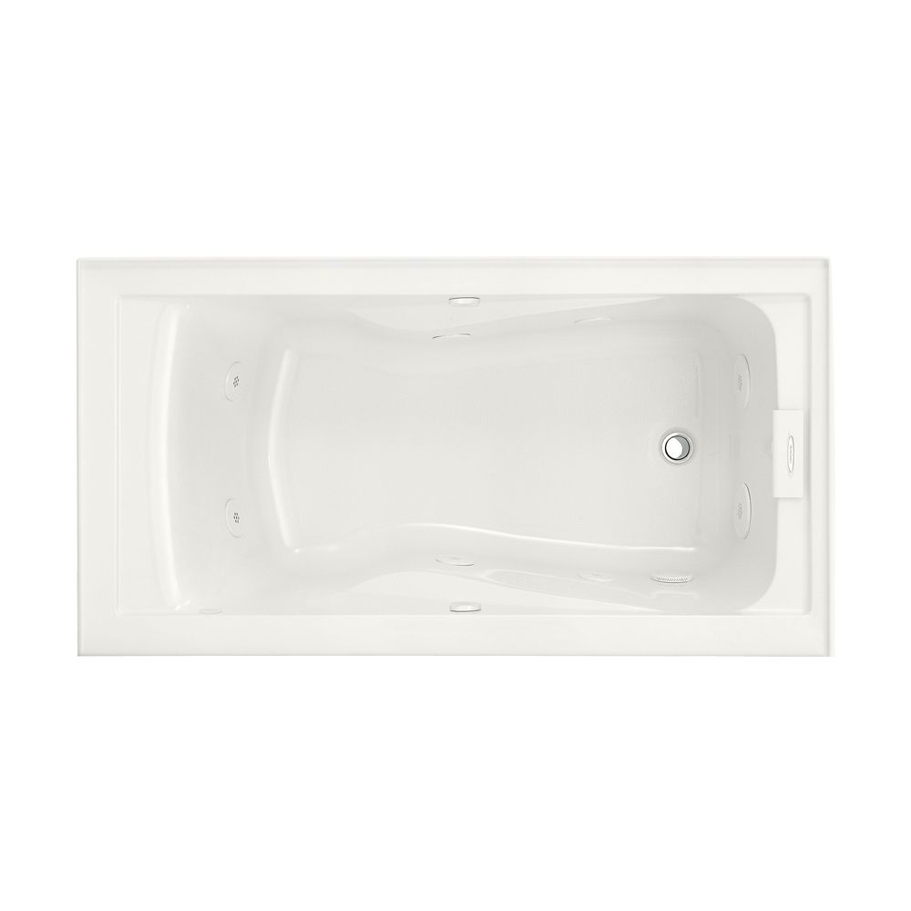 EverClean� 5 Feet Whirlpool Bathtub with Right Drain and Integral Apron in White