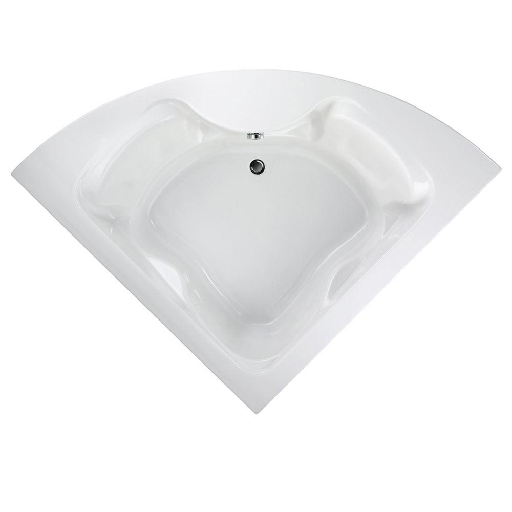 Cadet 5 Feet Acrylic Bathtub with Reversible Drain in White
