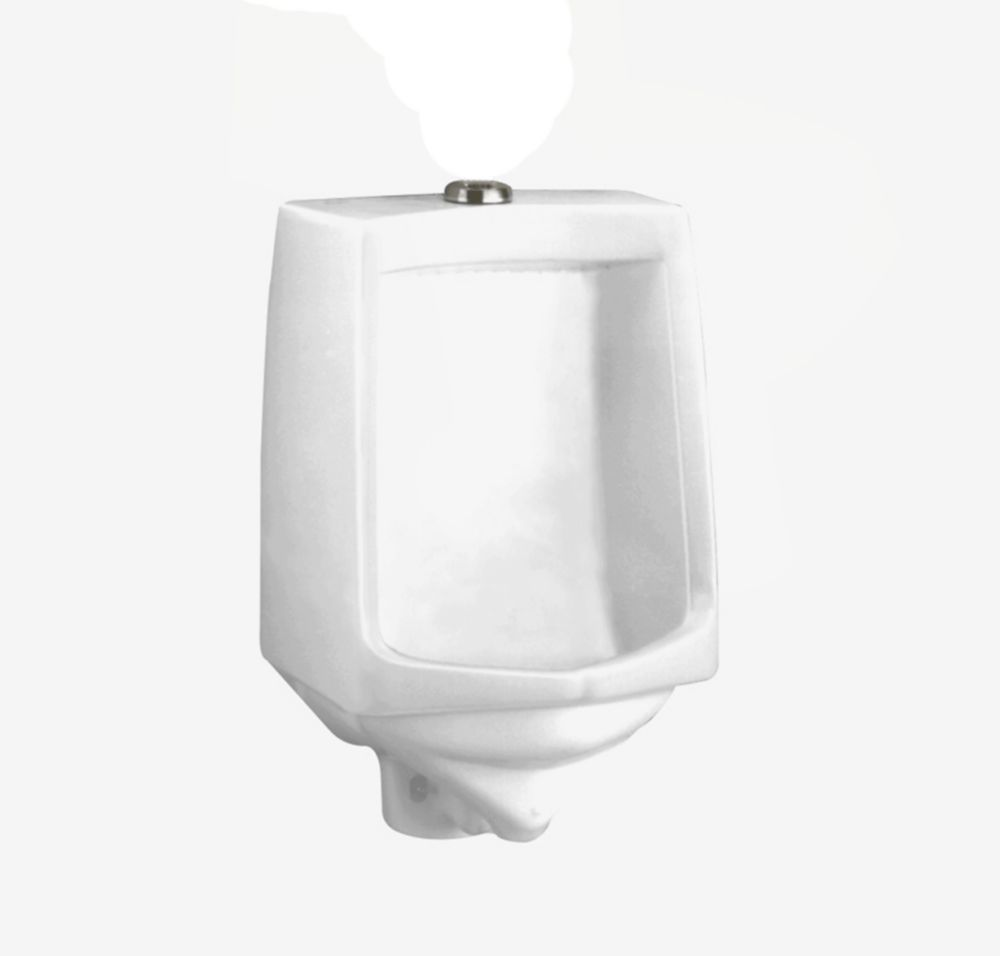 Trimbrook 0.85 - 1.0 GPF Urinal with Siphon Jet Flush Action in White