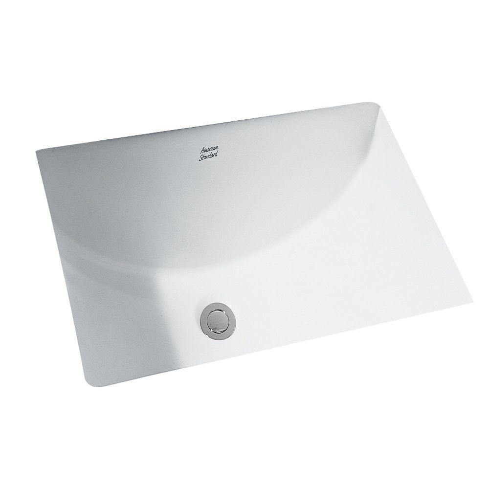 American Standard Studio Rectangular Undermount Bathroom Sink in White