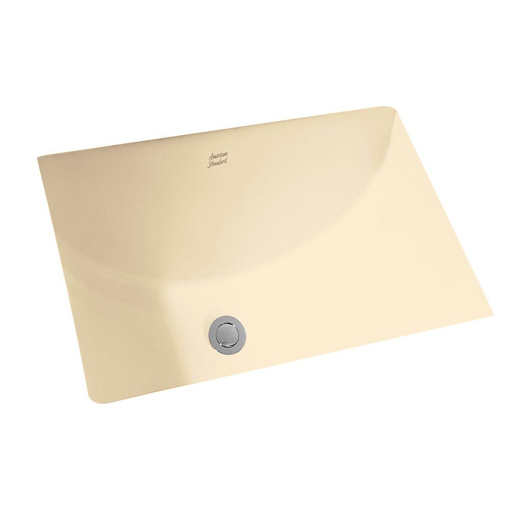 American Standard Studio Rectangular Undermount Bathroom Sink in Bone