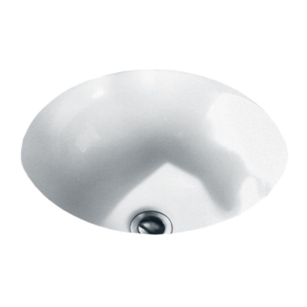 Orbit Undermount Bathroom Sink in White