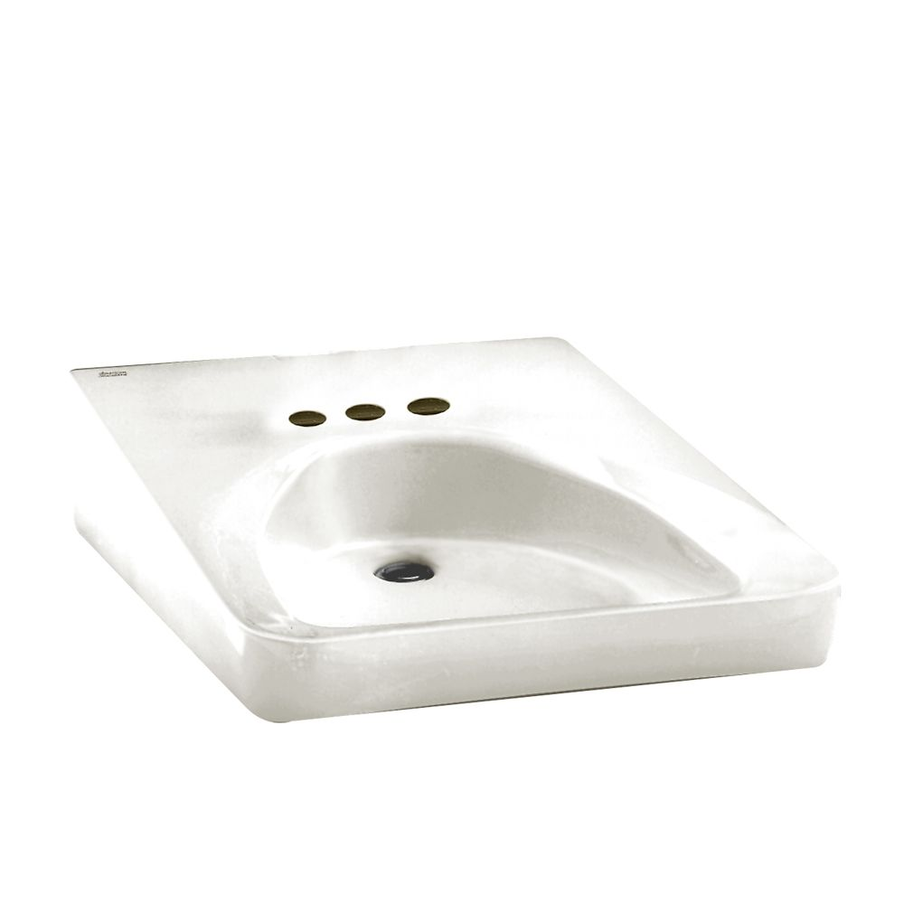 Wheelchair Users Wall-Mount Bathroom Sink in White
