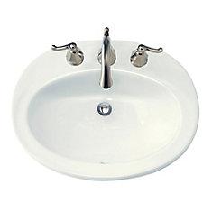 Piazza Self-Rimming Bathroom Sink in White