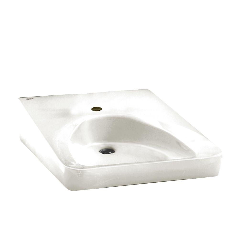 Wheelchair Users Wall-Mount Bathroom Sink in White 9140.047.020 in Canada