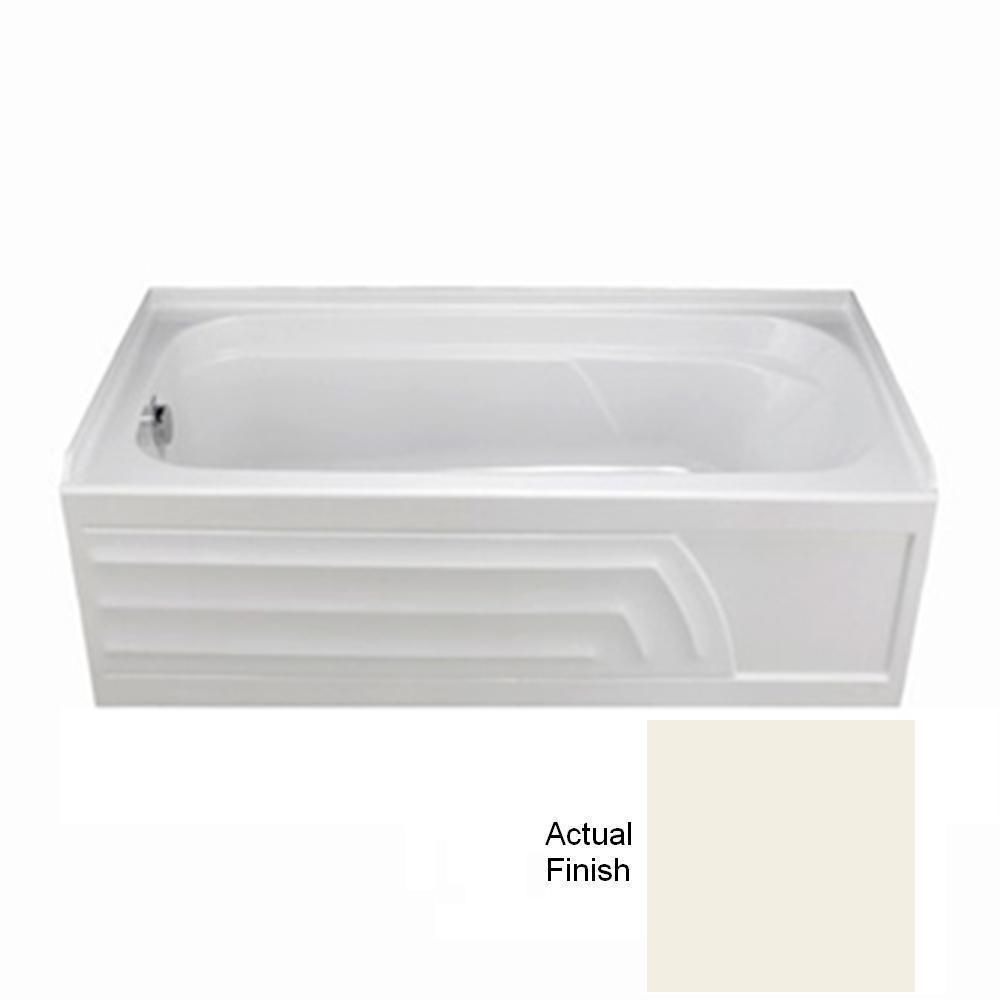 Colony 5 Feet 6-Inch Bathtub with Left-Hand Drain in Linen