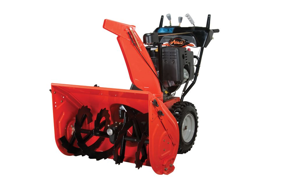 Professional 120V Snow Blower with Electric Start and 28-inch Clearing Width