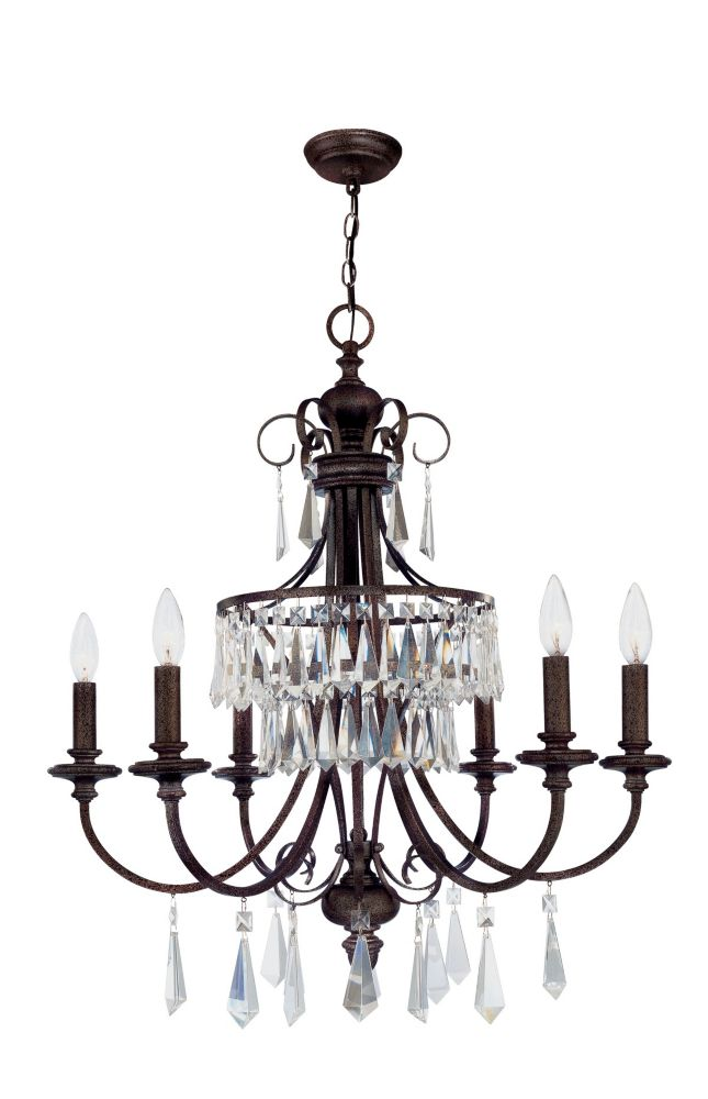 Lille Collection 6-Light 88-1/2 in. Hanging Bronze Chandelier