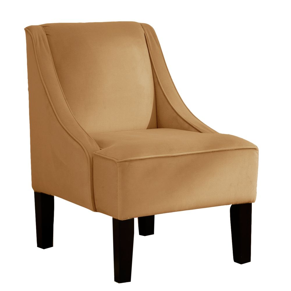 Swoop Arm Chair in Velvet Honey