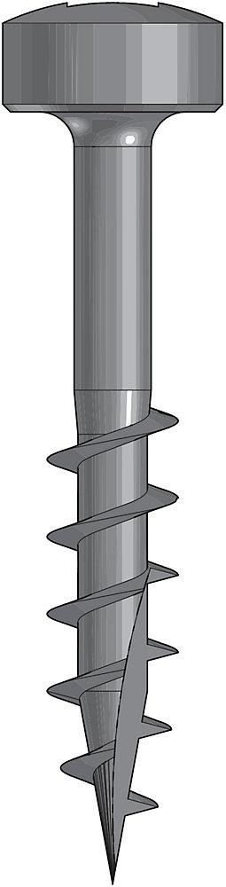 Wood Screw 1 Inch Coarse-100Ct