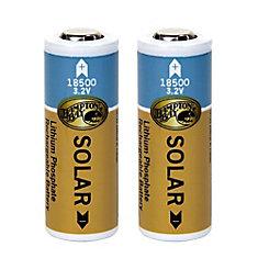1000mAh Lithium Phosphate Solar Rechargeable Batteries (2-Pack)