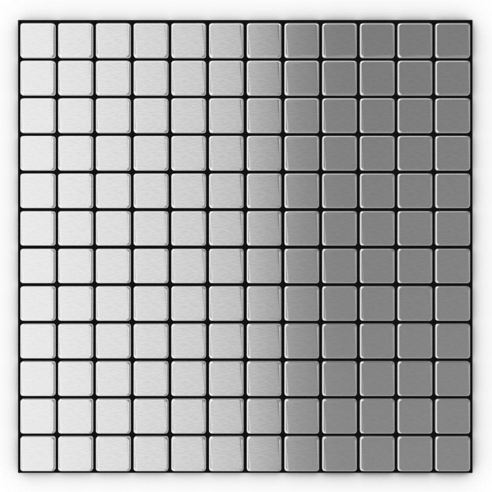 Inoxia  Mosaic Self Adhesive Metal Tile - Per Tile